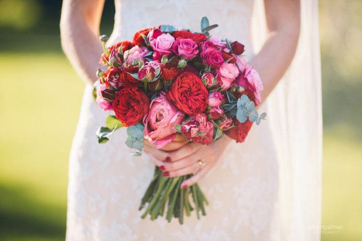 Buquê de noiva vermelho