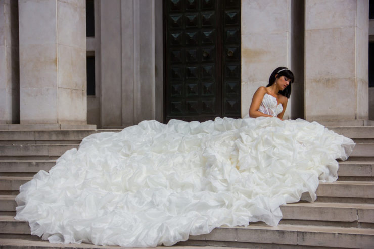 Caudas de vestido de noiva