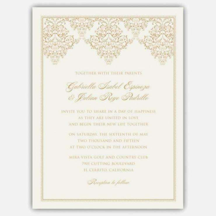 Moldura para convite de casamento