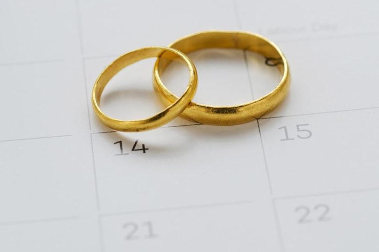 Tabela de bodas de casamento