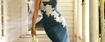 Vestido de noiva jeans