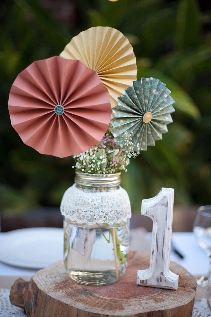 Decoração com origami para casamento
