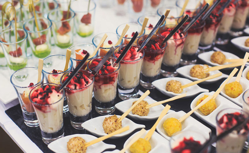 Finger food no casamento